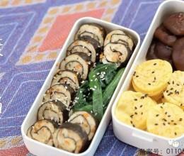 便当菜谱(玉米饼+海苔肉卷)