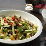 青椒韭黄炒鳝丝