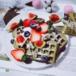 抹茶草莓華夫餅