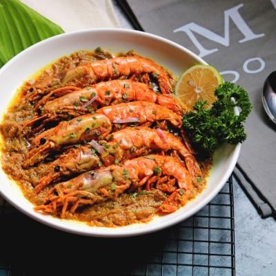 咖喱阿根廷红虾