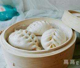 白鲨饺子粉试用之麦穗包子#KitchenAid的美食故事#
