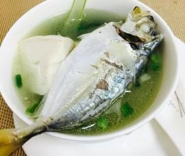 海鱼豆腐青菜汤