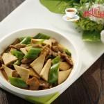 青椒鸭脯肉千叶豆腐