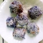 蓝色糯米椰蓉团