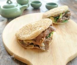 电饼铛食谱-老北京烧饼夹烤肉