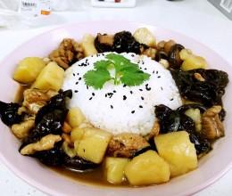 香菇土豆鸡肉饭