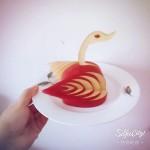 苹果天鹅-水果拼盘
