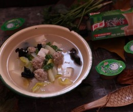 豆腐丸子白菜木耳汤