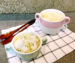 娃娃菜年糕汤