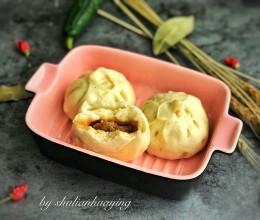 葱香肉包#蒸派or烤派#