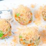 蝦松雜蔬芝士飯團