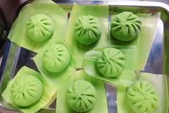 菠菜汁绿包子~