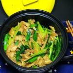 黑乐砂锅炒五花肉