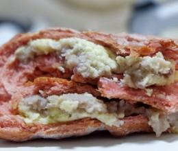 红丝绒芋泥奶酪软欧包