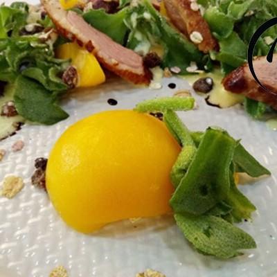 「回家菜谱」——香煎鸭胸肉配水蜜桃