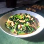小油菜炒口蘑