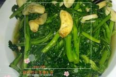 蒜瓣炒菊花菜