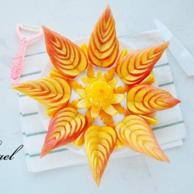 蘋果橙子水果拼盤