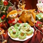 圣诞花环甜甜圈