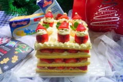 圣诞裸蛋糕#安佳烘培学院#
