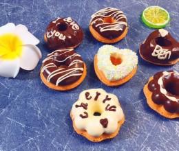 巧克力甜甜圈海绵蛋糕