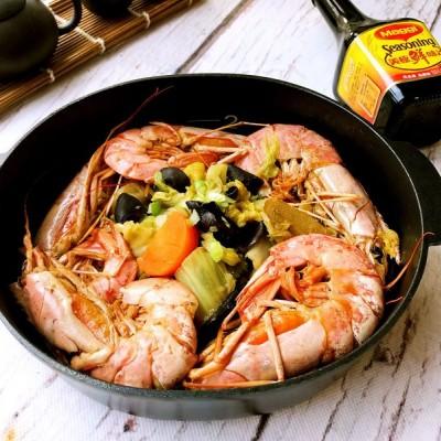 鲜虾时蔬煲