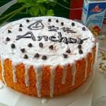 奶油淋面戚風蛋糕#安佳烘焙學院#