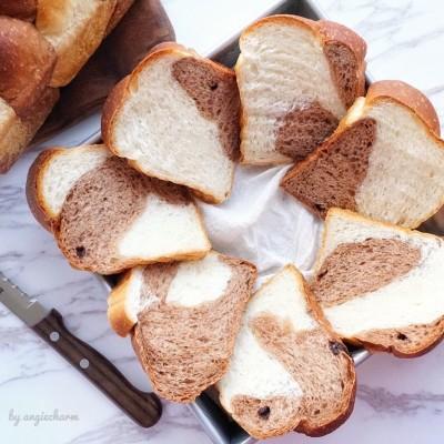 巧克力雙色吐司面包