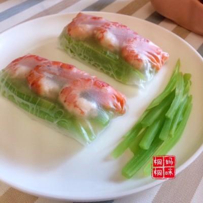 虾仁彩蔬越南春卷