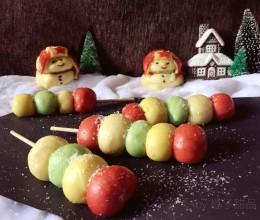 猪肉虾仁馅雪人包子和糖葫芦小馒头