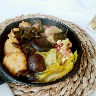 菜心玉菇昆魚鍋
