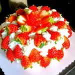 草莓抹茶蛋糕#美的FUN烤箱·焙有FUN儿#