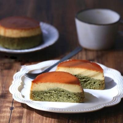 抹茶焦糖布丁蛋糕