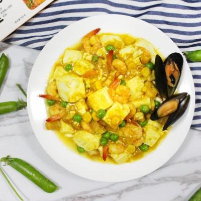 咖喱海鲜白玉煲