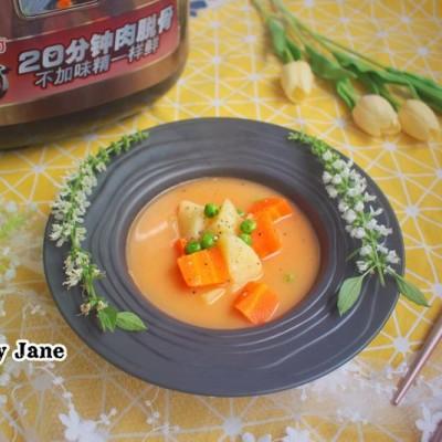 電壓力鍋食譜-牛骨濃湯