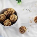 休闲零食——燕麦花生酱球