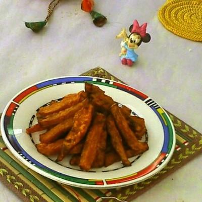 空气炸锅食谱-烤南瓜条