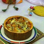 焗南瓜盅#美的FUN烤箱,焙有FUN儿#