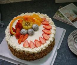 核桃水果蛋糕#美的Fun烤箱,倍有Fun儿#