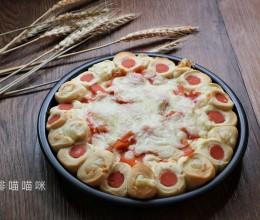 重芝士芝心培根披萨#美的FUN烤箱,焙有FUN儿#