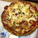 鲜虾火腿披萨