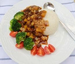 黑椒香菇盖饭