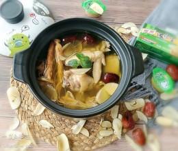 海底椰参鸡汤