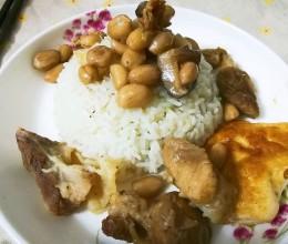 猪腿肉炒花生米