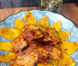 红薯烤五花肉
