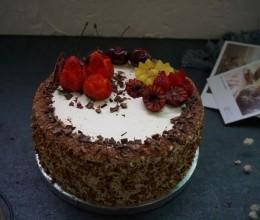 巧克力核桃水果蛋糕