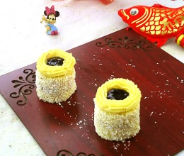椰蓉果酱蛋糕
