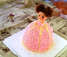 粉色小公主裱花蛋糕