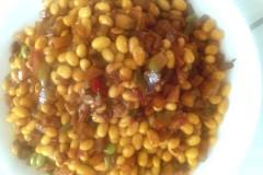 榨菜炒黄豆