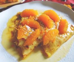 法国最著名的甜品—橙酒煮可丽饼